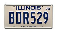 Blues Brothers | Bluesmobile | BDR529 | Metal Stamped Replica Prop License Plate