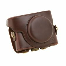 For Sony DSC-RX100 Camera Case PU Leather Case with Shoulder Belt (coffee) X8S7