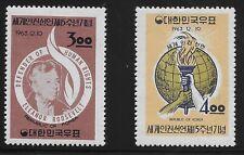 Korea Scott #414-15, Singles 1963 Complete Set FVF MH