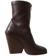 Céline Burgundy Wedged Ankle Boots size 38 excellent condition
