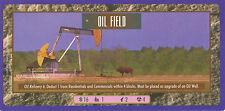Sim City The Card Game CCG/TCG, Double length Ultra-Rare Oil Field Card