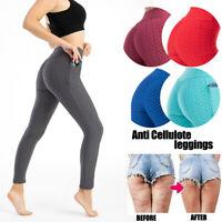Damen Leggings Yoga Fitness Leggins Jogging Trainingshose Sporthosen /P