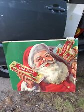 "1940's 33 3/8"" Old Gold Santa Cigarette Sign"