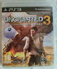 UNCHARTED 3 L'ILLUSION DE DRAKE PS3 AVEC NOTICE
