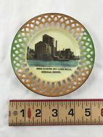 Vtg Ceramic Souvenir Plate Goderich Ontario Canada Grain Elevator & Flour Mills