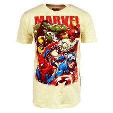 Magliette da uomo gialli Marvel con girocollo
