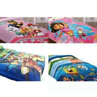nEw NICKELODEON BED COMFORTER - Paw Patrol Dora TMNT Bedding Blanket Cover
