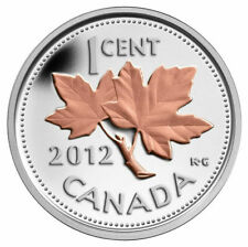 2012 Canada Silver Farewell to Penny gold plated 1/2 oz Fine Silver Proof Coin