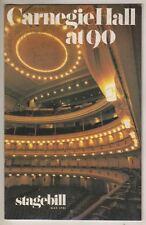 Tony Bennett Concert Playbill 1981 Carnegie Hall New York Ticket Stubs