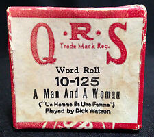 QRS Word Player Piano Roll 10-125, A Man and a Woman, played by Dick Watson 1966
