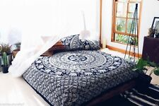 Black And White Elephant Bedsheet Queen Size Cotton Sheet With Pair Pillowcases