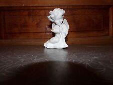 New listing Vintage Alabaster Angel Cherub Playing Clarinet Figurine