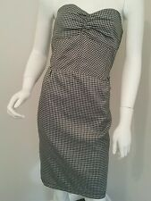 Ladies Mossimo houndstooth strapless dress size 12 wiggle corset