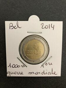 2 euros commemorative belgique 2014 100 ans de la 1ere guerre mondiale UNC neuve