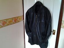 BLACK RYDER STYLE REAL LEATHER JACKET SIZE LARGE BY BURTON