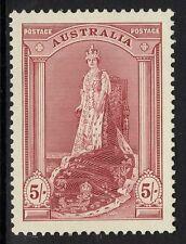 Australia sg176 1938 5/= BORDEAUX MTD Nuovo di zecca
