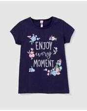 T-shirts et débardeurs bleus en 8 ans pour fille de 2 à 16 ans en 100% coton