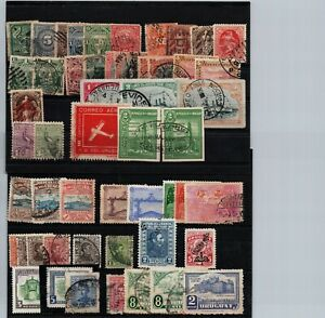 Uruguay a high value used stamps all selected difficult to get