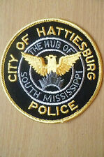 Patches:CITY OF HATTIESBURG THE HUB OF S MISSISSIPPI POLICE PATCH (NEW*apx.9.5cm