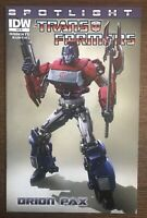 Transformers Spotlight Orion Pax 2012 0 Retailer Incentive Variant IDW Comic
