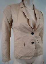 J CREW écolier beige col V avec revers manches longues Casual Blazer Jacket Sz:0