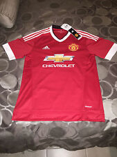 New Authentic MANCHESTER UNITED Red Jersey Adidas Sz Medium Mens