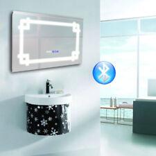 Bluetooth Smart Illuminated LED Bathroom Mirror Shaver Socket Touch DemisterIP44