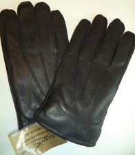 Thunderball Rabbit Fur Lined Genuine Leather Gloves, Black, XLarge