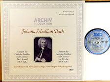 ARCHIV JS Bach KIRKPATRICK Harpsichord Concertos BAUMGARTNER SAPM 198 013