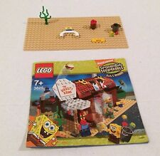Lego 3825 SpongeBob The Krusty Krab Manual Base Plate and Parts ONLY!