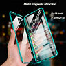 360 Double-face Verre Magnétique étui pour Huawei P20 P30 Pro Lite Mate 20 coque