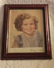 """Vintage Shirley Temple Photo Framed 9"""" x 11"""" Tall"""