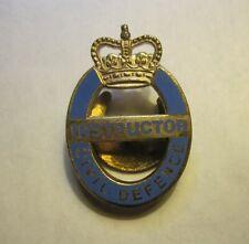 1950's British Civil Defense Instructor Badge.