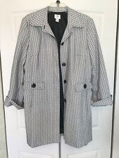 APT 9 Womens peacoat white and black button up