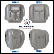 2005 Chevy Tahoe LT Z71 -Driver Side Bottom Replacement Leather Seat Cover Gray