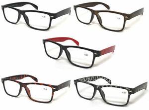 S142 Wayfarer Reading Glasses & Super Classic Fashion & Large Frame Nerd Glasses