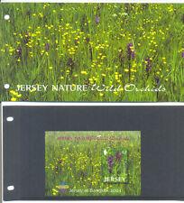 Jersey-Orchids min sheet 2003 Bangkok overprint  & presentation pack-mnh