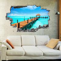 Tropical Paradise Beach Island 3D Wall Mural Photo Wallpaper Wall Stickers 1002