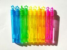 10 Mini Burbujas Varitas De Neón Arco Iris Estrellas Para Niños Fiesta De Cumpleaños Bolsa Rellenos