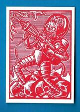 TOPPS MARS ATTACKS OCCUPATION *WOOD CUT ART CARD MA-LP 1 MARTIAN ON THE LOOSE