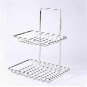 Holder Bathroom Stainless Steel Double Layer Soap Box Soap Dish Soap Holder