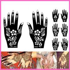 Mehndi Henna Stencil Flower Lace Tattoo Airbrush Painting Women Hands Art Tattoo