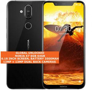 NOKIA X7 6gb 64gb Sdm710 Snapdragon 710 Dual Sim Cards 12mp Android Smartphone