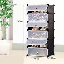 6 paliers 1 colonne d'enclenchement cube de rangement chaussures rack stand organizer holder