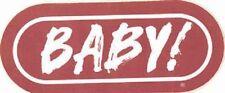 """BABY"" WRIF 101 FM Detroit Radio Station bumper sticker"