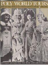 1961 BROCHURE - POLY WORLD TOURS - 'ROUND THE WORLD ESCORTED BONUS TOURS