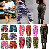Womens Lady Camo Cargo Hip Hop Army Military Casual Pants Combat Trousers Jogger