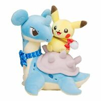 Pokemon Center Original Limited Plush Doll Pikachu & Lapras JAPAN OFFICIAL