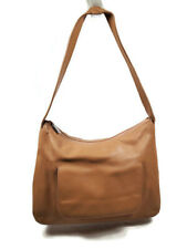 FURLA Vintage Tan Leather Shoulder Bag with Front Pocket