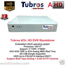 Tubros A-HD DVR Standalone 4Ch. (Support Both A-HD + Analog CCTV Cameras)